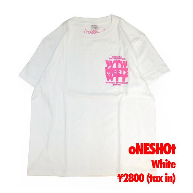 WTW x WTT x TTT コラボ 限定Tシャツ oNESHOtタイプ ホワイト