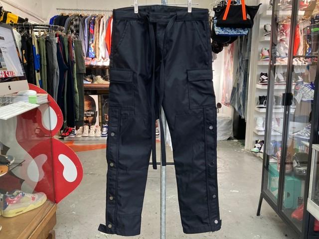 mnml SNAP ZIPPER CARGO PANTS BLACK W31 30KF7032