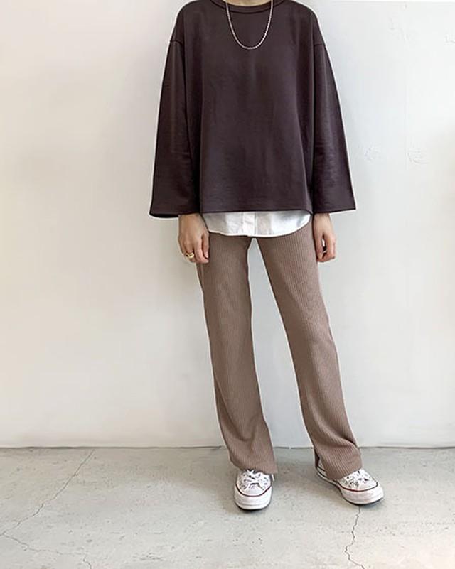 GLOSSY SWEAT TOPS / SALT + JAPAN