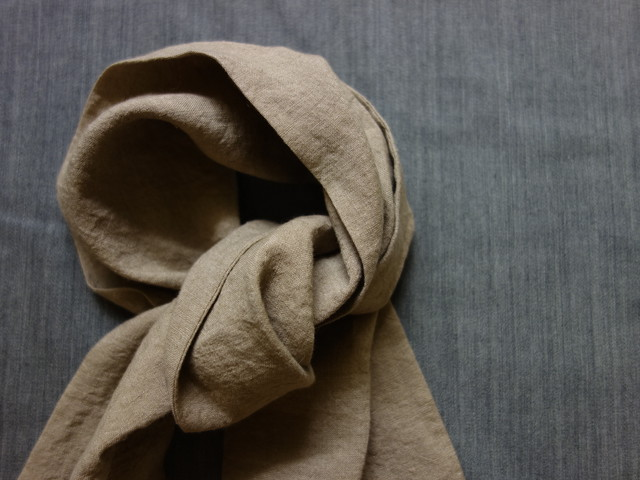 cravat scarf / antique mocha