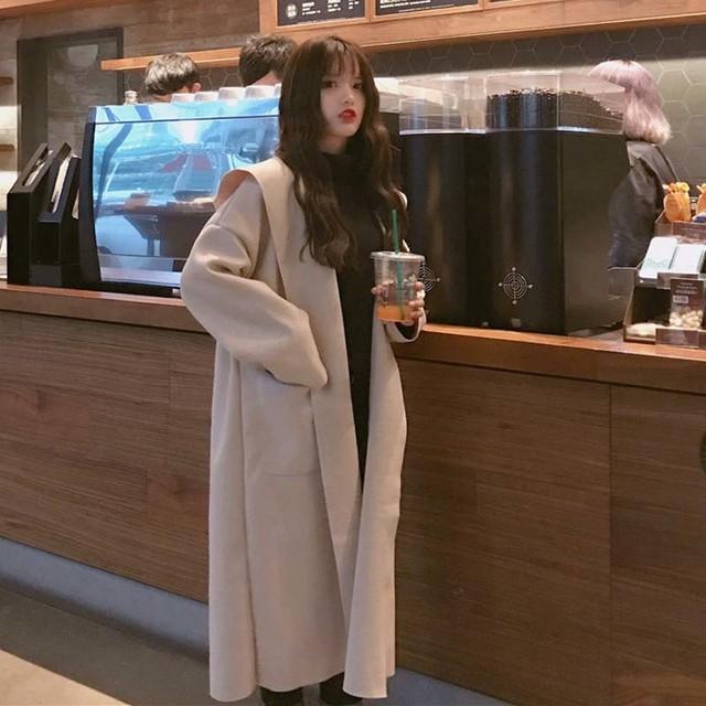 冬 フード付き ロング チェスター コート きれいめ 可愛い シンプル オルチャン 通勤 通学 お呼ばれ デート