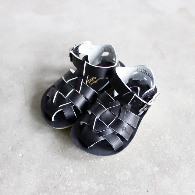 《SALTWATER SANDALS》Shark / black / CH5-8