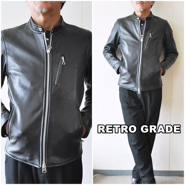 レトログレード(RETRO GRADE) シングルライダース ラムレザー メンズ ジャケット レザージャケット 8591035
