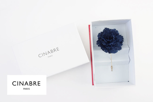 シナブル パリ|CINABRE PARIS|ブートニエール|フラワーラペルピン|ブローチ|コサージュ|グリーン