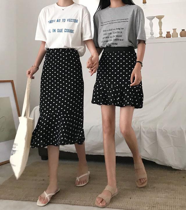 ツインドットスカート