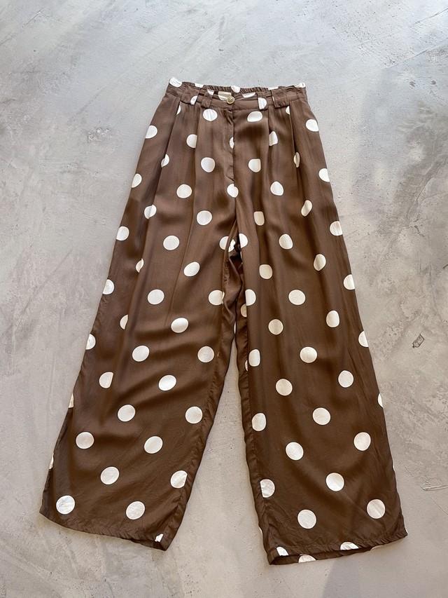 vintage dot pattern easy pants