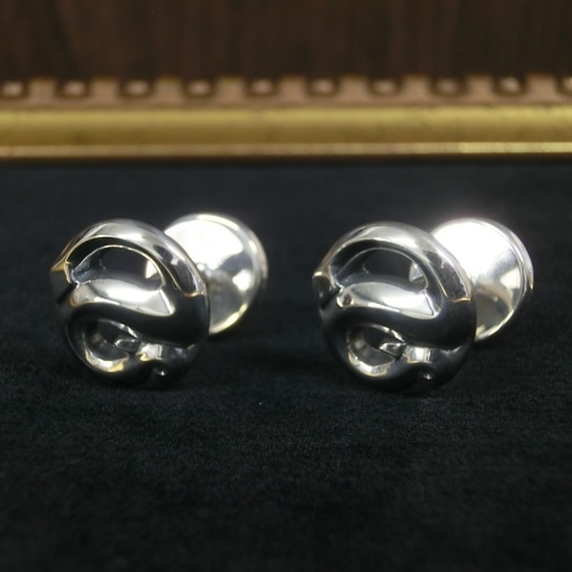 F HOLE CUFFLINKS -BRASS-