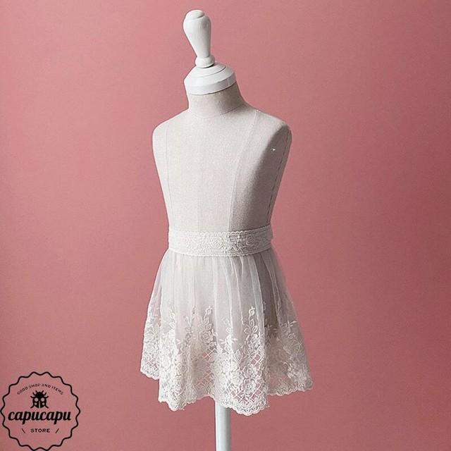 «予約» Lace apron cape small version 小さなレースエプロン