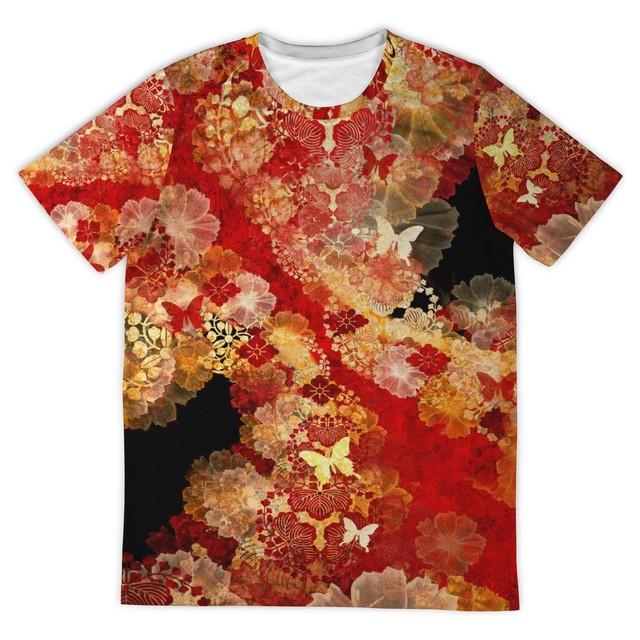 家紋 Gold Long Sleeve Velvet Kimono ベルベット羽織
