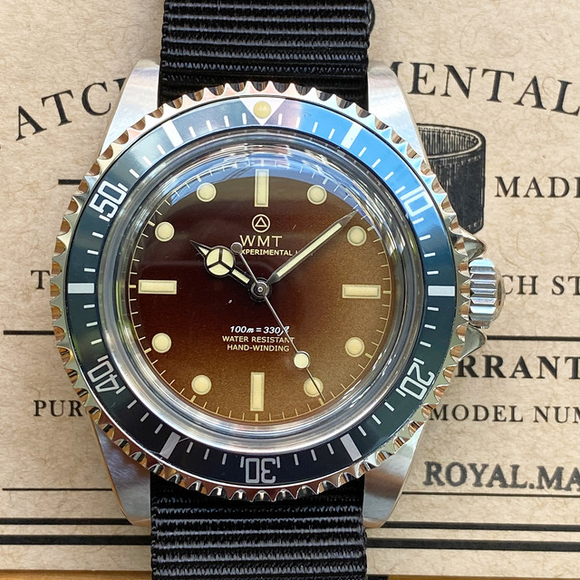 W.MT WATCH  ROYAL MARINE AQUA-TROPICAL NAVY U-BOAT (NH35) WMT1313-04
