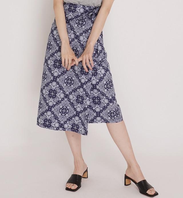 【送料無料】着映え♪ペイズリースカート♡スカート ラップスカート ペイズリー 着映え 着回し 女っぽ
