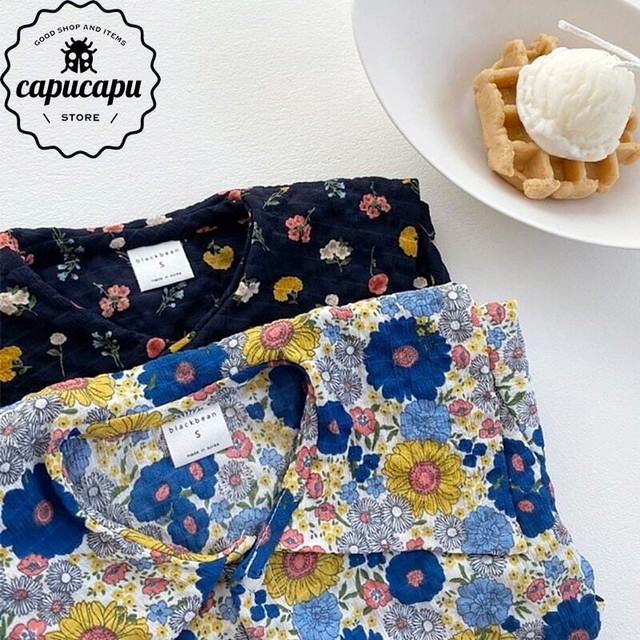 «sold out» summer flower shirt✳セーラーカラー 花柄シャツ