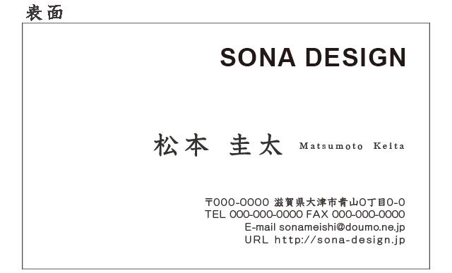 ビジネス両面名刺・シンプル 022 100枚
