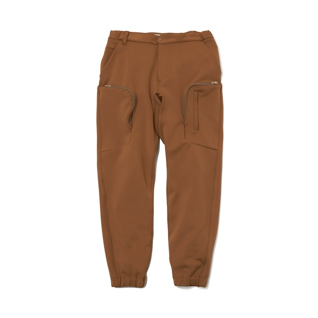 JERSEY TECH CARGO PANTS - BEIGE