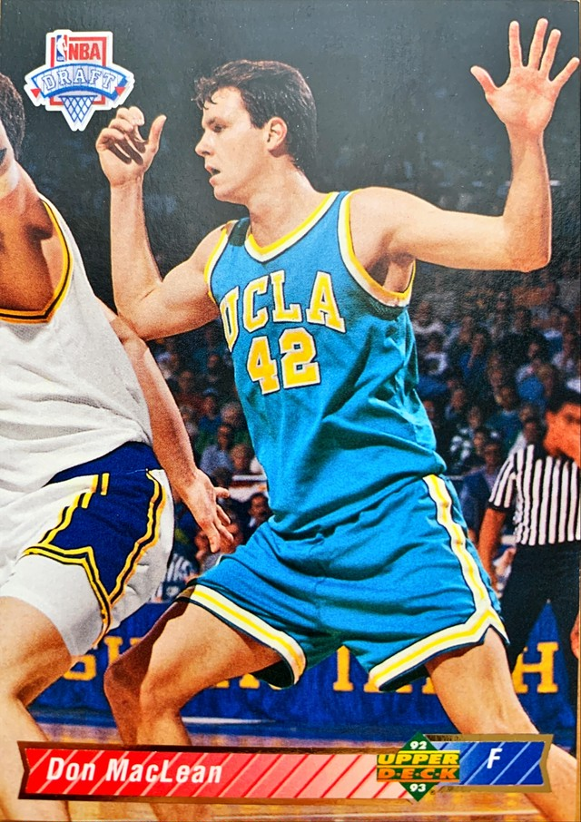 NBAカード 92-93UPPERDECK Don Maclean #16 BULLETS ルーキーカード
