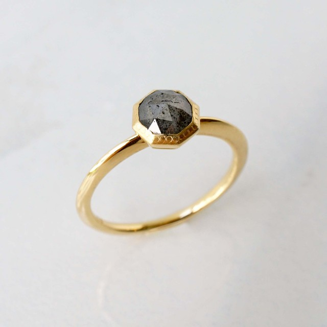 Rose Cut Diamond Ring(R194-YD)