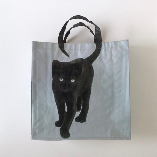 黒猫のショッピングバッグ|Black Cat Shopping Bag