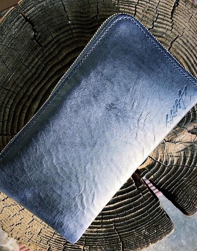 【manufacture by MANIFOLDxIKENOHATA GINKAWATEN】LAHM WALLET(L字ファスナー財布)LAHM ITALIAN NAVY(イタリアンネイビー)/ LAHM(エルエーエイチエム)