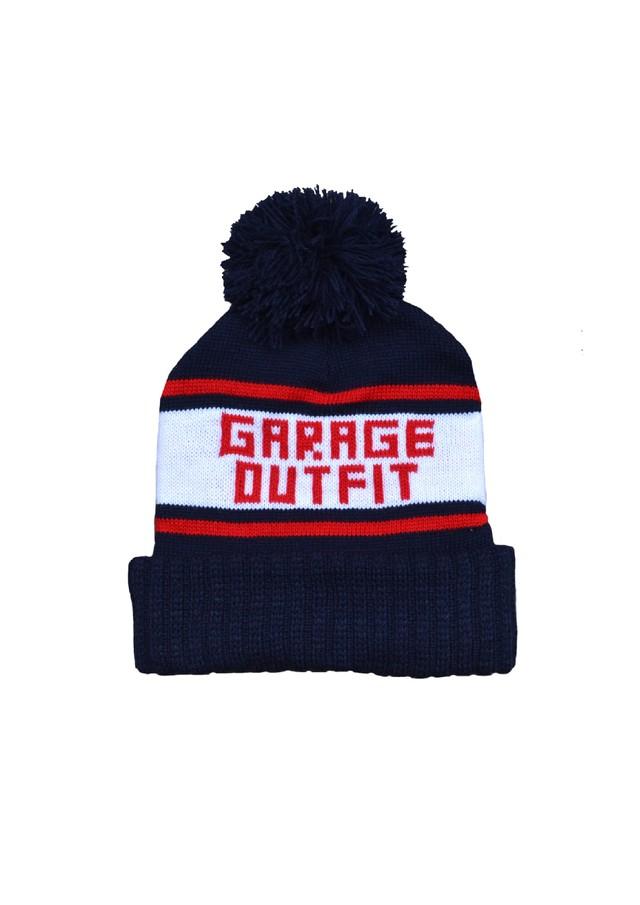 Garage pom knit cap