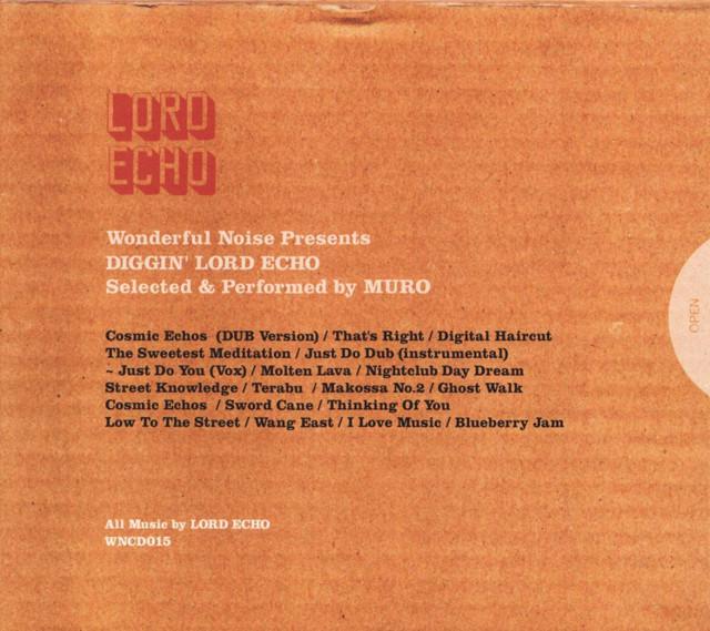 【CD】LORD ECHO mixed & selected by MURO - Diggin' LORD ECHO