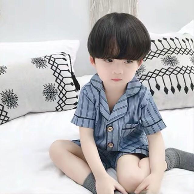 ストライプパジャマ ブルー【R006】