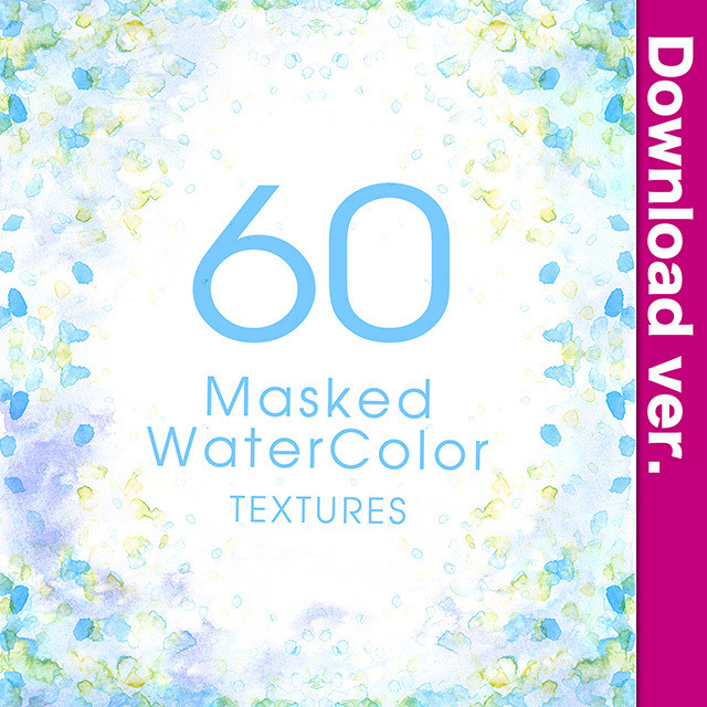 ★75%OFF★透明水彩素材集3-1/MaskedWaterColor_3-1
