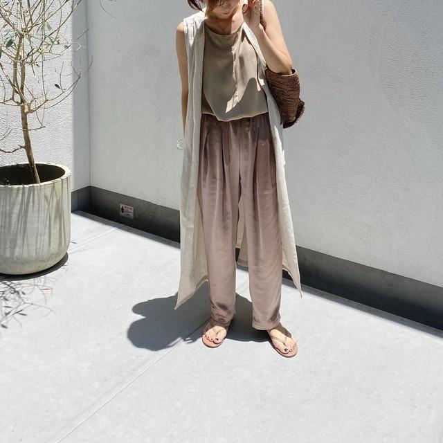 vintage satin【tuck PT】/beige