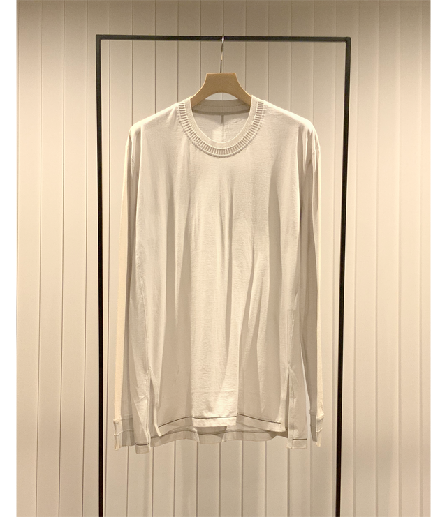 Long Sleeve Combination Cut and Sew / Light Grey