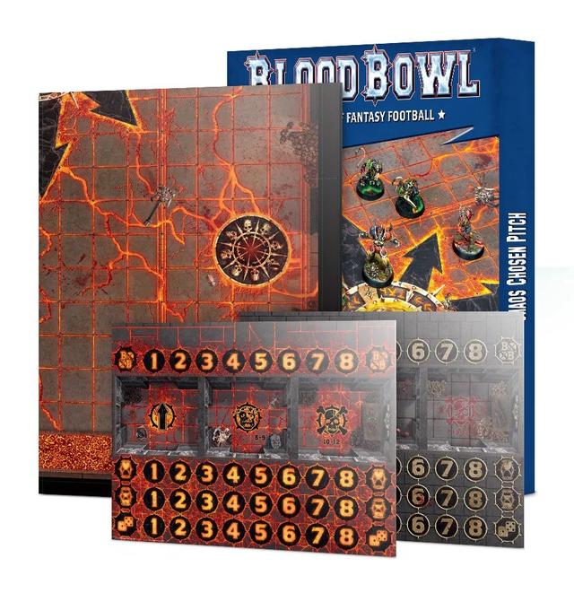 【5月11日23時59分までに予約で10%OFF!】Blood Bowl Chaos Chosen Double-sided Pitch and Dugouts Set