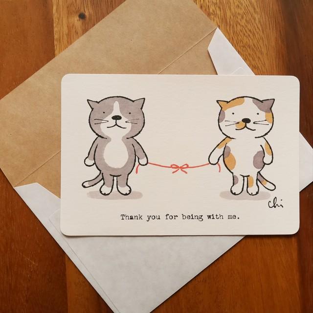 「Love cats,Love dogs.」メッセージカードセット