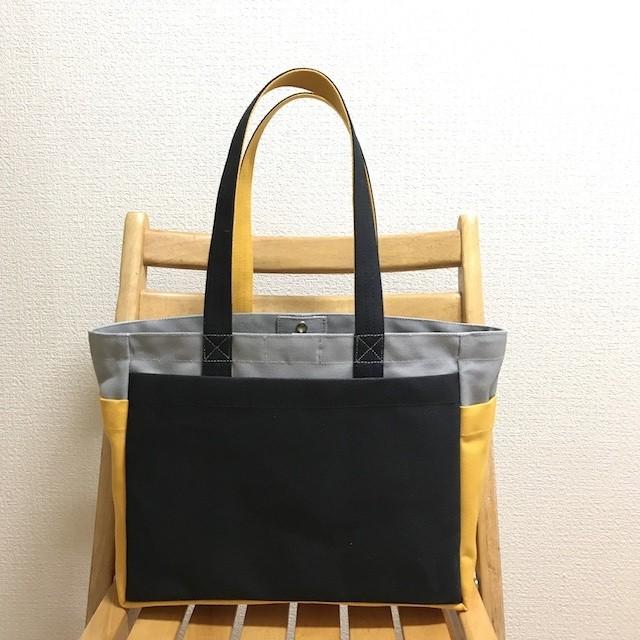 「ボックストート」通勤トート「アズキ」帆布トートバッグ 倉敷帆布8号