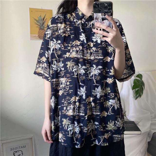 レトロ柄クールシャツ