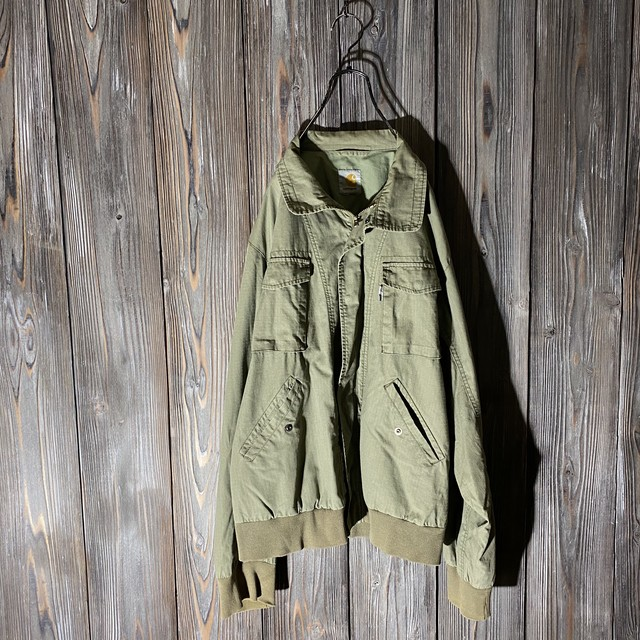 [Carhartt]thin green work jacket