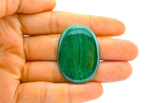 大きな緑★マラカイト ルース カポジョンmala003