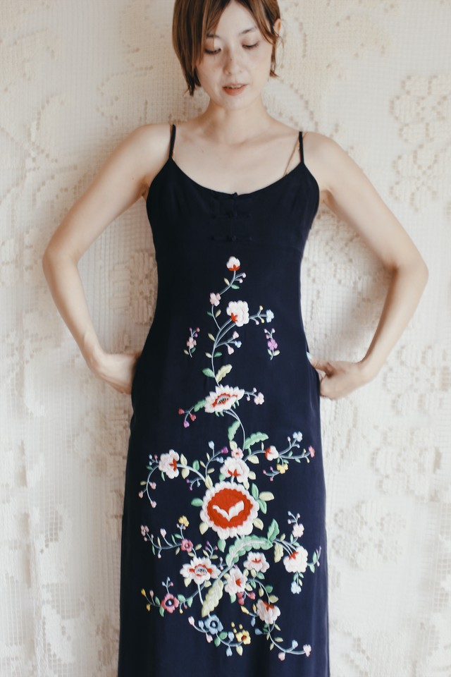 Vintage China Embroidered Dress