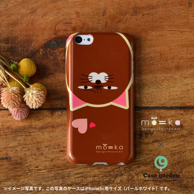 【限定色】アイフォン5c ケース 猫 iphone5c ケース ねこ iphone5c 猫 ケース iphoneケース 猫 iphone5c クリア ケース キラキラ もやしねこ(ハート)/mo=ka×ケースガーデン