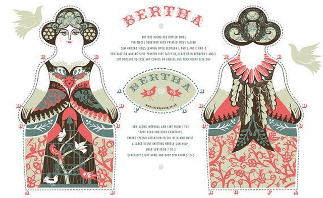 Bertha Tea Towel / Cloth Kit