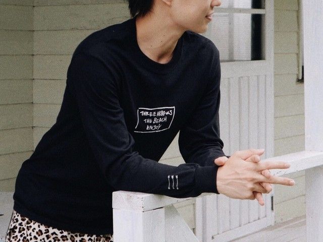 THREEARROWS BOX LOGO L/S TEE(black)