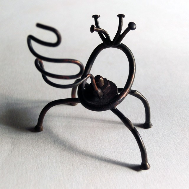 【未来の食虫植物】a ~ オーナメント ☆ 真鍮 #1462