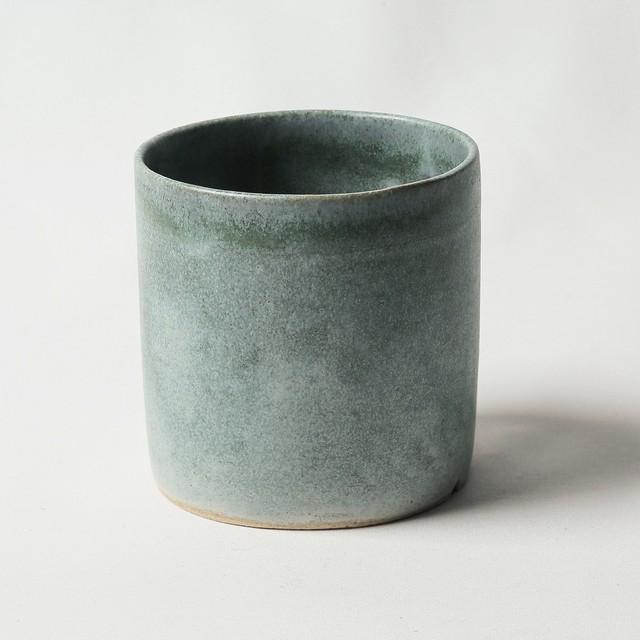 蒼銅色植木鉢(S)