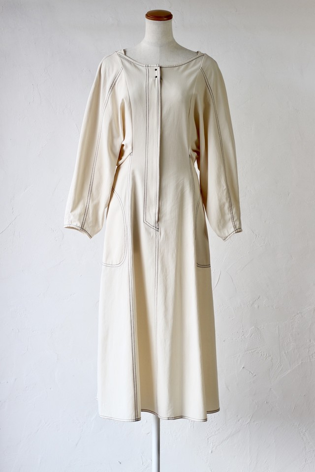 【KOTONA】vintage twill cotton dress