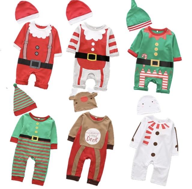 【お取り寄せ】80-95 サンタロンパース クリスマス 子供 キッズ 赤ちゃん