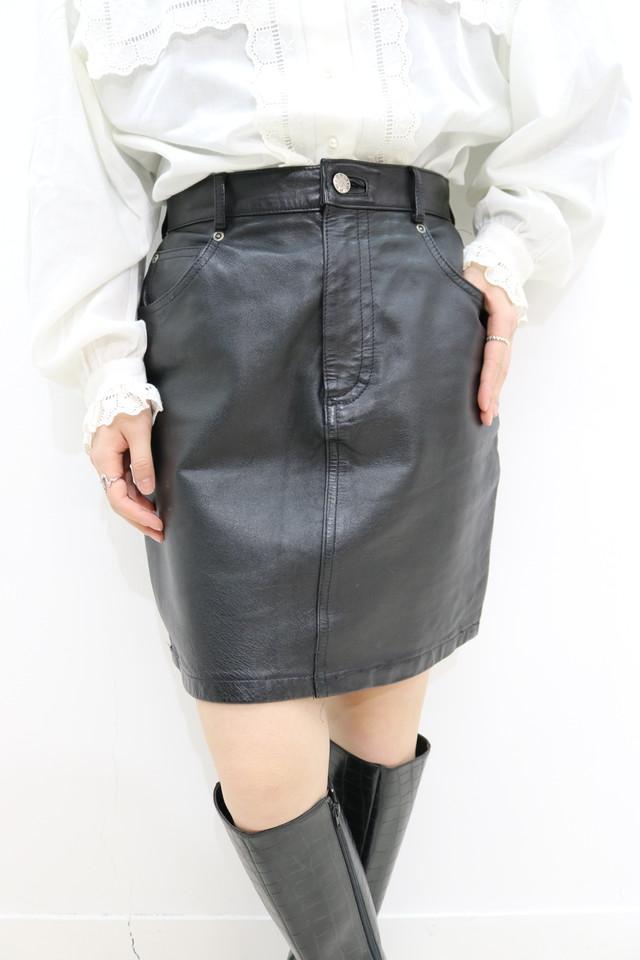 mini leather skirt / SK11270006
