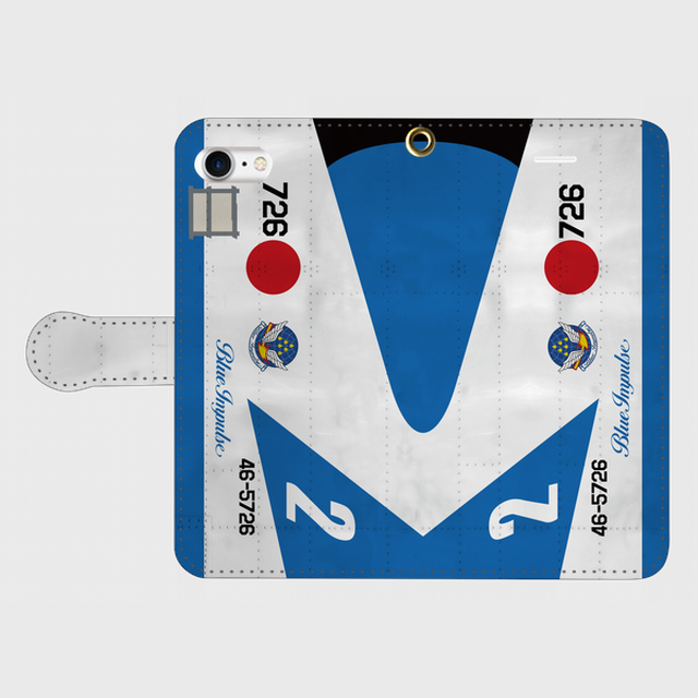 T-2ブルーインパルス【5番機】 手帳型スマホケース