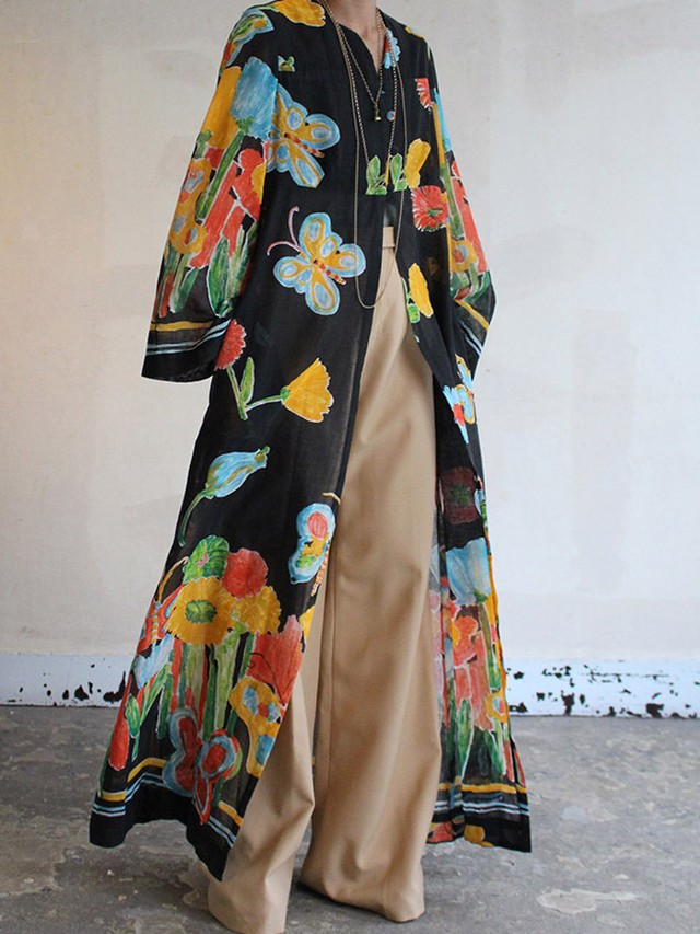 70s cotton Kaftan