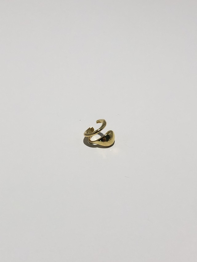 line point earcuff gold(再入荷)