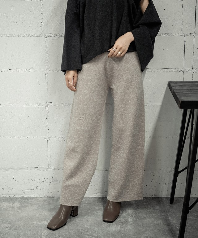 JACQUARD KNIT PANTS