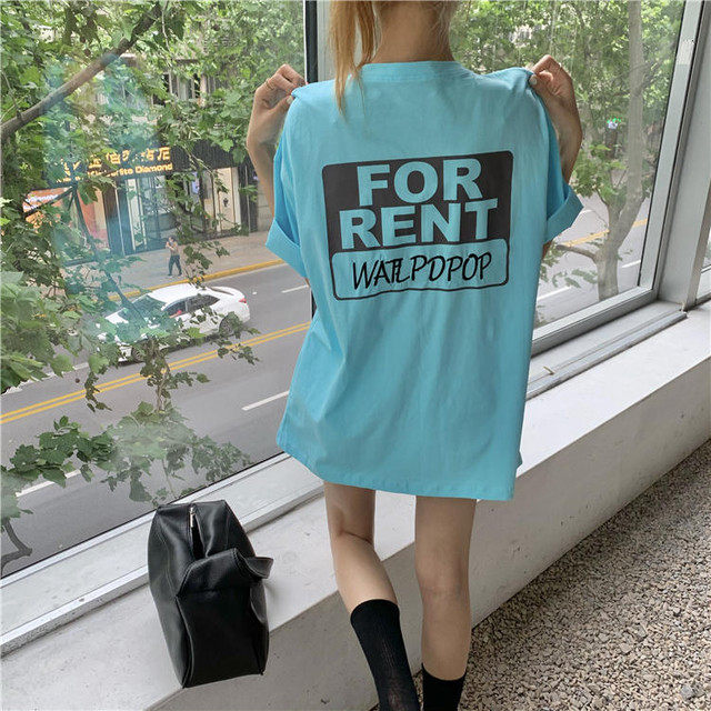 【送料無料】FOR RENT Tシャツ♡Tシャツ トップス ロゴT オーバーサイズ ビックサイズ カジュアル ゆったり 着まわし