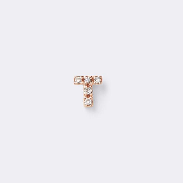 Initial Diamond Pierce K10PG(イニシャルダイヤモンドピアス K10ピンクゴールド)