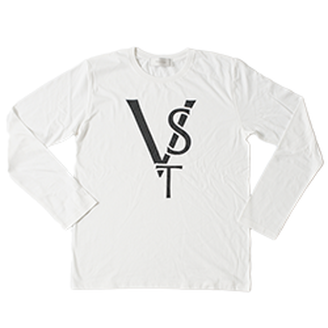 VST Logo Print Long T-shirt(White)
